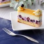 季節限定のフローズンケーキ 「カシス&バニラクリーム フレッシュライチ風味」(BIOKURA)