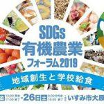 10/25・26 SDGs有機農業フォーラム2019